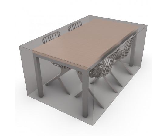Housse sur-mesure de protection table de jardin